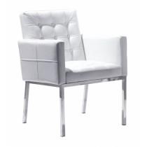 Spinder Design - Eetkamer stoel RVS/Wit