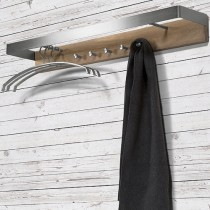 Spinder Design - Noa 2 Wandkapstok Rvs Eiken